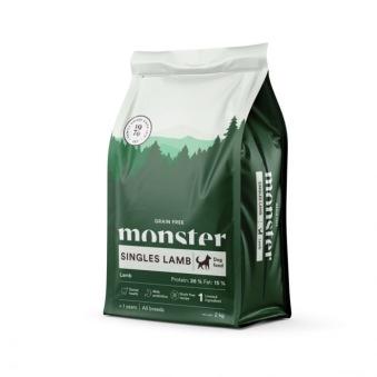 Monster Dog Adult All Breeds Grain Free Singles Lamb - Lamm 2 kg