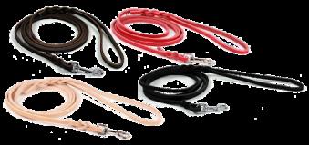 Koppel i läder - Rött 12mm/180 cm