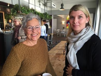 Marika gästade Annsofie Thörnroths event. Här på plats på kontorshotellet på BIrger Jarlsgatan i city.