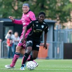 Anita Asante i vårens segermatch mot Linköping.