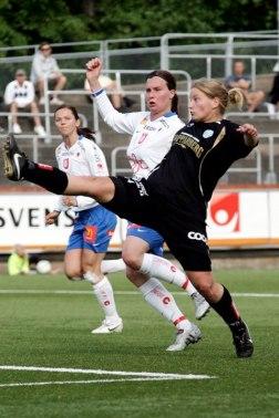 Sara Lindén vann den interna skytteligan och kom tvåa i den damallsvenska skytteligan 2010.