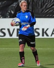 Kristin Hammarström vaktar målet mot Kina.