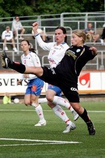 Sara Lindén på väg tillbaka igen.