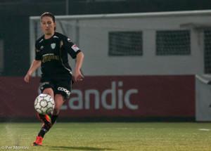 Anna Ahlstrand matchens lirare i KGFC mot Vittsjö.
