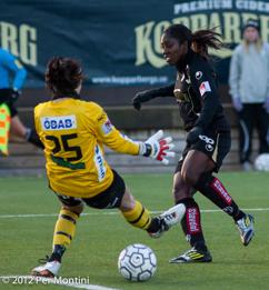 Anita Asante var av målskyttarna på Behrn Arena förra året. Varför inte göra om det i år?