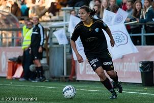 Jessica Landström tvåmålskytt när KGFC avancerade i Svenska Cupen.