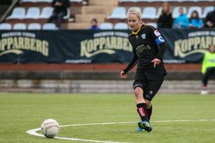 Stina Segerström besviken över förlusten men ändå förhoppningsfull inför kommande matcher.