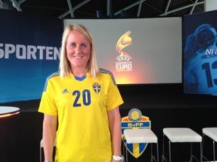 Marie Hammarstöm en av tre KGFC-spelare i Pia Sundhages VM-kvaltrupp.