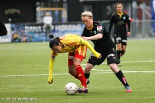 Marie Hammartsöm KGFCs enda målskytt mot Tyresö.