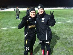 Två nöjda målskyttar efter segern över danska Bröndby med 3-1.