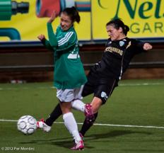 Marlen Sjöberg mot Fortuna Hjörring i CL 2012.