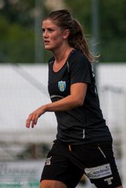 Norska landslagsspelaren Maren Mjelde gjorde tillsammans med Lisa Ek debut för KGFC mot Lilleström.