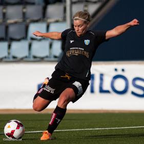 Sara Lindén svarade för inte mindre än 5 mål i cupmatchen mot Lidköping.