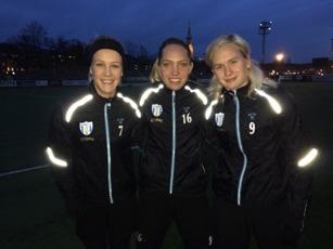 Tre nya ansikten. Adelina Engman, Elin Rubensson och Filippa Curmark.