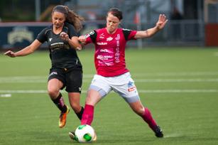 Lieke Martens in action när KGFC mötte Jitex 2014.