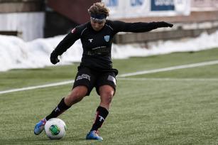 Lisa Ek en av målskyttarna mot Fortuna Hjörring.