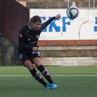 Andrine Hegerberg ser framåt och hoppas på tre nya poäng mot Umeå. Foto: PER MONTINI