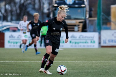 Adelina Engman firade dubbelt när hon gjorde två mål i matchen mot Jitex BK.       Foto: PER MONTINI