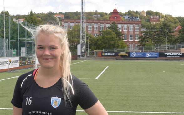 Arna Sif Asgrimsdottir har övertygat i mittförsvaret i KGFC:s senaste matcher. Nu ser hon fram mot den tuffa kampen mot svenska mästarna från Malmö. Foto: TORE LUND