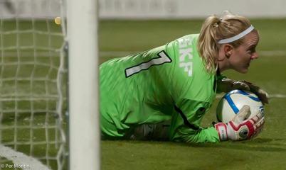 Kristin Hammarström är tillbaka i KGFC i matchen mot KDFF. Foto: PER MONTINI