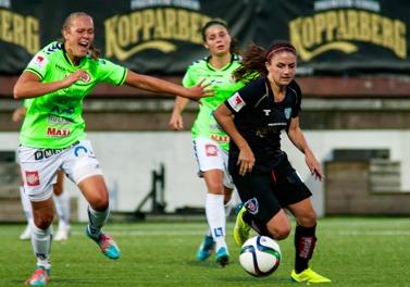 Danielle van de Donk gjorde sin bästa match sedan hon kom till KGFC i somras. Foto: PER MONTINI