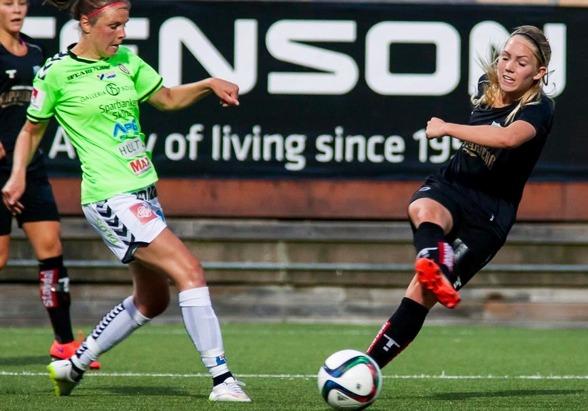 """Elin Rubensson är revanschsugen efter förlusten senast mot Piteå. """"Hammarby är bra, det blir tufft. Men vi kan bättre än vi visade mot Piteå"""", säger hon. Foto: PER MONTINI"""