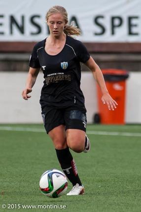 Rebecka Blomqvist, en av två tjejer som gjorde fyra mål mot Hovås Billdal. Foto: PER MONTINI