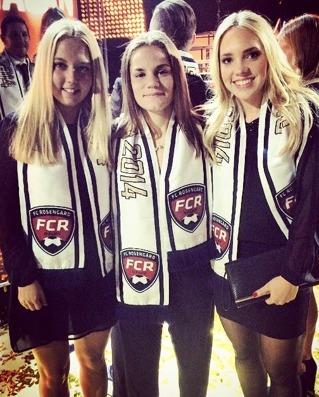 Tre f d FC Rosengård-spelare återförenas nu i KGFC – Nathalie Persson, Sarah Mellouk och Elin Rubensson.