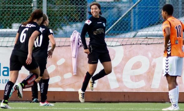 Annahita Zamanian är en av de unga talanger som utvecklats i KGFC:s F19-lag.
