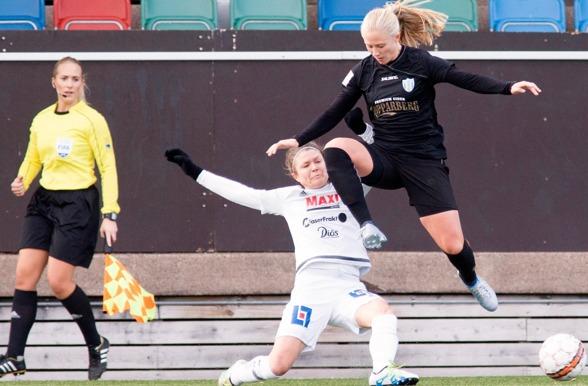 Rebecka Blomqvist har sett pigg och stark ut under årets första träningsveckor. Hon var också en av dem som imponerade i matchen mot Bröndby på lördagen. Foto: PER MONTINI