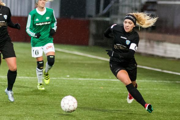 Elin Rubensson från matchen mot Hjörring i lördags. Foto: PER MONTINI