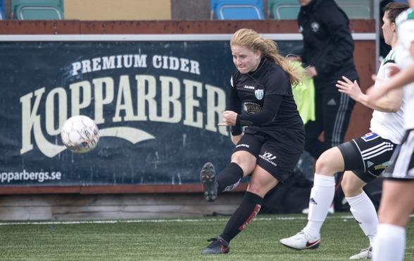Savannah Levin är en av de två nya amerikanska spelarna i KGFC:s trupp 2017., en av de nya spelare som det ska bli spännande att se i damallsvenskan. Foto: JESPER PRYTZ