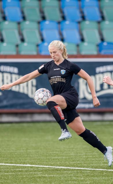 Rebecka Blomqvist har öst in mål under försäsongen. Hon får gärna fortsätta med det... Foto: JESPER PRYTZ