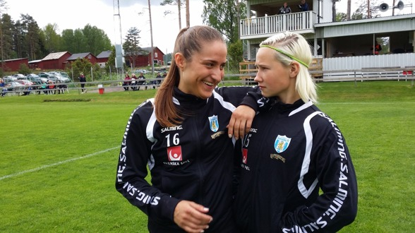 Irvina Bajramovic och Marika Bergman-Lundin hoppas på en stark laginsats på onsdagen mot svenskla mästarna från Linköpuing.