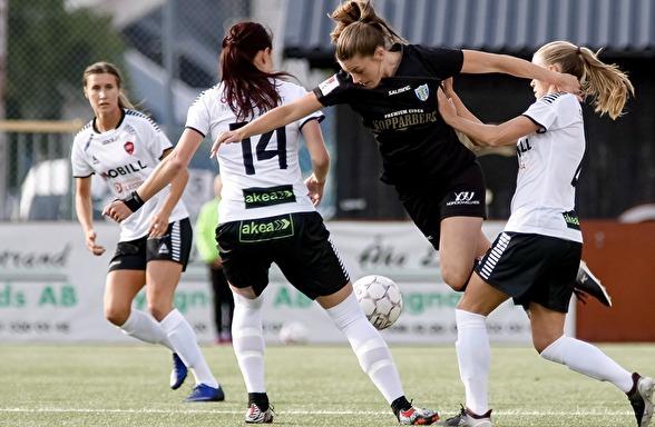Pauline Hammarlund var en av målskyttarna i matchen mot LB07. Foto: PER MONTINI