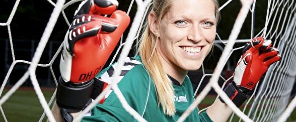 Målvakten Line Geltzer Johansen har skrivit på för Kopparbergs/Göteborg FC. Foto: KENNETH STJERNEGAARD