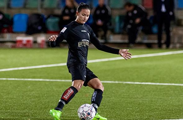 Beata Kollmats är besviken över förlusten mot Limköping, men hittade ändå positiva detaljer att ta med sig till kommande matcher. Foto: PER MONTINI