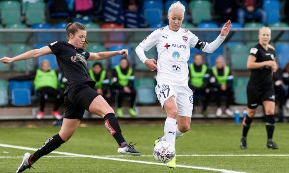 Damallsvenskan 2018 inleds med matchen Rosengård - KGFC. Då ställs Pauline Hammarlund och Caroline Seger mot varandra igen. Foto: PER MONTINI