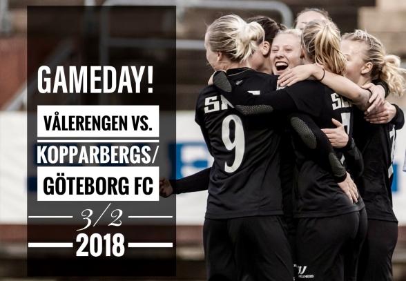 IMORGON SMÄLLER DET1 Dags för säsongens första träningsmatch!