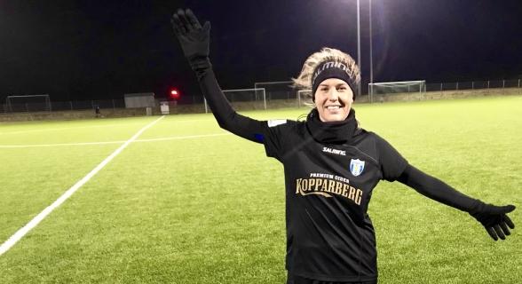 Olivia Schogh - målskytt direkt i comebacken i KGFC. Foto: LASSE SVENSSON