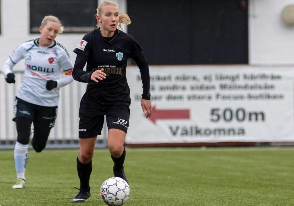 Emma Koivisto har fått en flygande start i sin nya klubb. Den finska landslagsspelaren gjorde ännu en stropng insats i sin hemmadebut. Foto: PER MONTINI