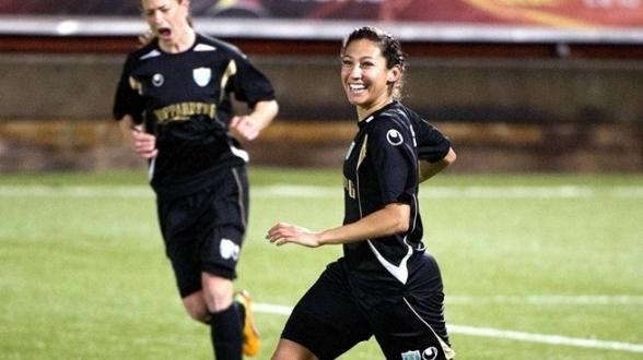 Hon spelade i KGFC 2012. Nu hälsar vi världsstjärnan Christen Press välkommen tillbaka till Sverige, Göteborg och KGFC.