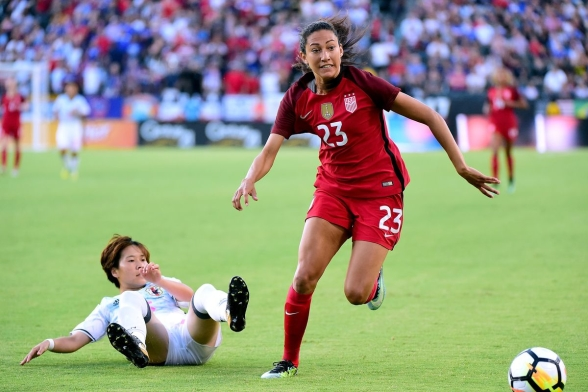 Christen Press har gjort 44 mål på 98 landskamper för USA.