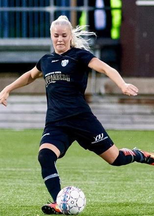 Amanda Johnsson Haahr gjorde bästa matchen hittills i KGFC-tröjan. Foto: PER MONTINI