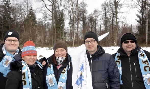 KGFC Support på plats i Lidköping vid vinterns cupmatch. Foto: TORE LUND