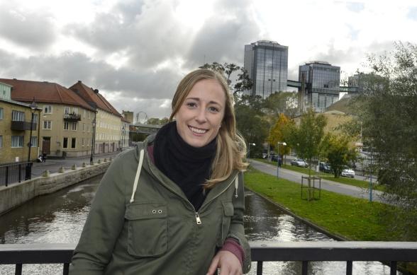 Loes Geurts var formidabel i premiären mot FC Rosengård. Nu hoppas hon på mycket folk och tre poäng i hemmapremiären mot Hammarby. Foto: LEIF GUSTAFSSON