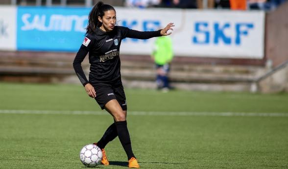 Christen Press gjorde mål igen, men dessvärre hjälpte det inte för att ta hem poäng mot Hammarby. Foto: PER MONTINI