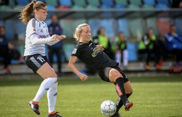 Julia Roddar blev matchhjälte med enda målet på bortaplan mot Vittsjö på söndagen. Foto: PER MONTINI