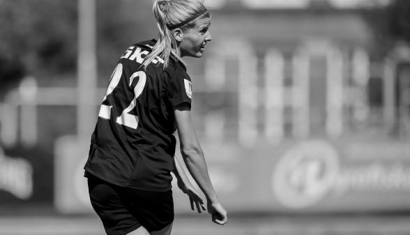Olivia Schough, målskytt och en av de bättre mot Djurgården. Foto: PER MONTINI
