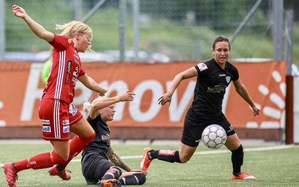 Med Catrine Johansson på planen i år har KGFC nästan bara segrar i resultatraden. Foto: PER MONTINI